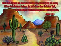 Desert postcard by artist Angela Young